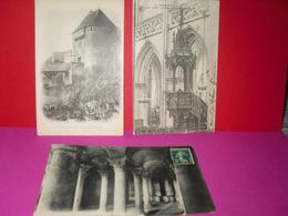 Porte De Secours Du Châteaux, église St- Cyr,hôtel Dieu: - Caen