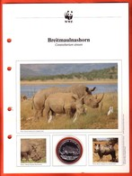 30 JAHRE WWF Silber Gedenkmünze Silver Coin / Ag 999 PP / Tiere Animals Animaux Breitmaulnashorn Ceratotherium Simum - Münzen