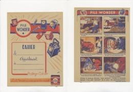 Publicité - Protege-Cahier - PILE WONDER - Piles