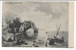 Sunset On Capri. Danish Card. Used 1908.  S-3206 - Sin Clasificación
