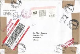 US Virgin Islands 2006 Aubrey C. Ottley Post Office Meter Registered Cover - Deens West-Indië