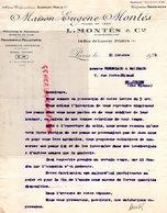 75-PARIS-LETTRE EUGENE  MONTES 14 RUE LANCRY-PEAUSSERIE PELLETERIE A  VERGNIAUD RATINAUD SAINT JUNIEN GANTERIE 1929 - Petits Métiers