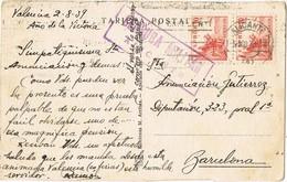 33000. Postal ALICANTE 1939. Censura Militar, Guerra Civil - 1931-Aujourd'hui: II. République - ....Juan Carlos I