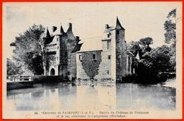 CPA 56 CAMPENEAC Morbihan - Château De Trécesson (près 35 Paimpont) ° Edition Gouin - Francia