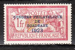 182*  Congrès Philatélique De Bordeaux - Bonne Valeur - MH* - LOOK!!!! - France