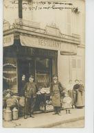 COMMERCE - Belle Carte Photo Devanture RESTAURANT Au Début Du XXème Siècle (non Située , Peut-être En TOURAINE ? ) - Restaurants