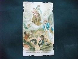 SANTINO HOLY PICTURE IMAGE SAINTE ORAZIONE ALLA VERGINE MARIA ANGELI - Religión & Esoterismo