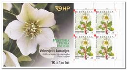 Kroatië 2008, Postfris MNH , Flowers ( Booklet, Carnet ) - Kroatië