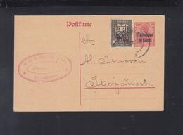 Dt. Reich Besetzung Rumänien Romania GSK 1918 Dragasani Nach Stefanesti Vordruck - Occupation 1914-18