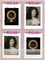 Netherlands Canon Christiaan Huygens Astronomer 4-block MNH Clock - Other
