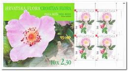 Kroatië 2004, Postfris MNH , Flowers ( Booklet, Carnet ) - Kroatië