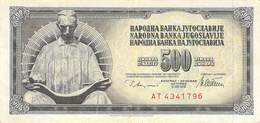 500 Dinar Banknote Jugoslawien 1978 VF/F (III) - Jugoslawien