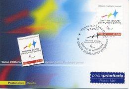 ITALIA - FDC MAXIMUM CARD 2006 - PARAOLIMPIADI A TORINO - ANNULLO SPECIALE - Cartoline Maximum