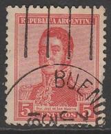 Argentina 1917 General José Francisco De San Martín, 1778-1850 5 C Red SW 213 O Used - Argentina