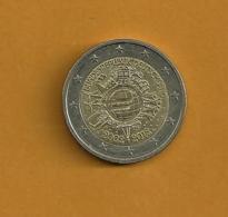 ALLEMAGNE 2 Euros 2012 10 Ans De L'euro 2002-2012 Lettre D - Allemagne
