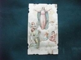 SANTINO HOLY PICTURE IMAGE SAINTE ASSUNZIONE DI MARIA VERGINE IMPRIMATUR GIUGNO 1912 - Religione & Esoterismo