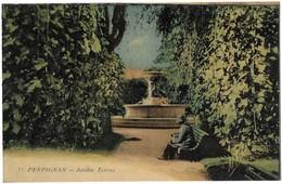 Perpignan Jardin Terrus Carte Colorisée - Perpignan