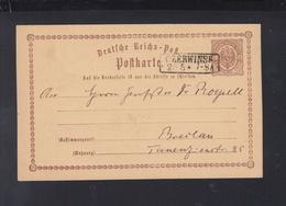 Dt. Reich Polen Poland GSK 1874 Czerwinsk Nach Breslau - Deutschland