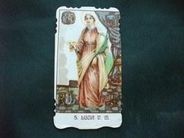 SANTINO HOLY PICTURE IMAGE SAINTE SANTA LUCIA V. M. - Religione & Esoterismo