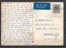USED POSTCARD , VIEW CARD UNITED ARAB EMIRATES TO PAKISTAN - Verenigde Arabische Emiraten