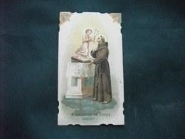 SANTINO HOLY PICTURE IMAGE SAINTE SANT'ANTONIO DA PADOVA PREGHIERA IMPRIMATUR SETTEMBRE 1912 - Religione & Esoterismo
