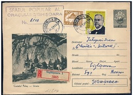 Romania/Roumanie: Intero, Stationery, Entier, Raccomandata, Registered, Recommandé, Castello, Castle, Château - Castelli