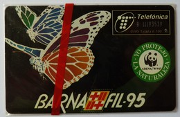 SPAIN - Chip - 100 Units - P-123 - Barnafil 95 - 04/95 - 6100ex - Mint Blister - Spain