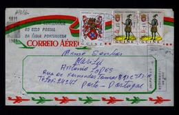 Military Uniforms 2x Soldier 1548 GUINÉ PORT. Portugal Brasons D.Manuel I King (slogan Cancel) India Cent. Stamp #8086 - Militaria