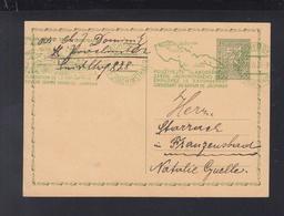 Czechoslovakia Stationery Green Joachimstal 1936 - Czechoslovakia
