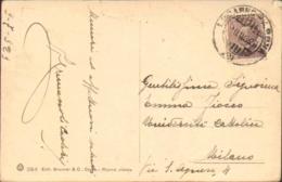 """1929-""""Lago Maggiore-Baveno Ed Isola Superiore Verbania """"annullo Locarno Arona (2) - Verbania"""