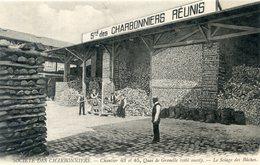 75  PARIS  15e AR   SOCIETE DES CHARBONNIERS QUAI DE GRENELLE  SCIAGE DES BUCHES - Arrondissement: 15