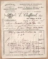 Vieux Papiers > Factures & Documents Commerciaux > France > 1900 – 1949 Chartres E.CHIFFARD Manufacture De Chandelles - France