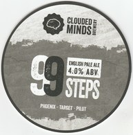 CLOUDED MINDS BREWERY (LOWER BRAILES, ENGLAND) - 99 STEPS - PUMP CLIP FRONT - Schilder