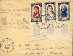 1950-France Francia Aerogramma Cachet 1 Liason Aerienne France Canada Del 2 Oct.pregevole Affrancatura - Storia Postale