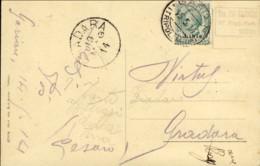 1914-Libia Cartolina Illustrata Tripoli Letamai Affrancata 5c.Leoni Soprastampato Libia Annullato Garian Tripolitania E - Altre Guerre