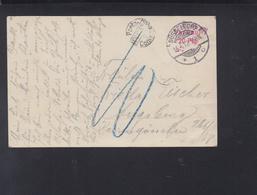 Dt. Reich AK 1912 Düsseldorf Nach Augsburg Portokontrole - Briefe U. Dokumente
