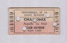 BIGLIETTO TELEPHERIQUE..CHAMONIX. CARTONATO - Europe
