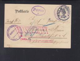 Württemberg Feldpost Württ. Feldartilerie Reg. 49 1910 Ulm Nach Frankfurt Am Main - Wuerttemberg