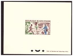 Bloc Spécial COTE D'IVOIRE Journée Du Timbre 1961 - Ivory Coast (1960-...)