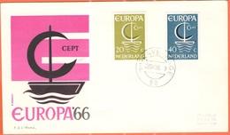OLANDA - NEDERLAND - Paesi Bassi - 1968 - Europa Cept - 's-Gravenhage - FDC - Roma - 1966