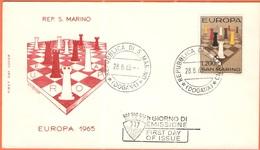 SAN MARINO - 1965 - Europa CEPT - FDC - Filagrano - 1965