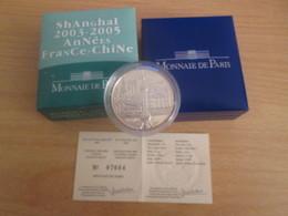 SHANGHAI 2003 Cote 50 € Au Leuchtturm 2019 Pièce MDP 1/4 EURO Argent 99,9% Brillant Universel  Avec Coffret + Certificat - Francia