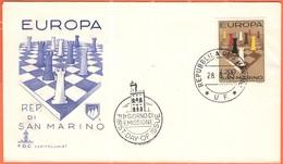 SAN MARINO - 1965 - Europa CEPT - FDC - Capitolium - 1965