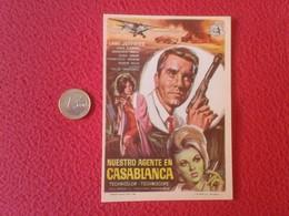 SPAIN PROGRAMA DE CINE FOLLETO MANO CINEMA PROGRAM PROGRAMME FILM PELÍCULA NUESTRO AGENTE EN CASABLANCA LANG JEFFRIES - Publicidad