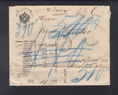 KuK Wertbrief Predmeritz  Nach Frankfurt Am Main - Briefe U. Dokumente