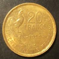 20 Francs Georges Guiraud, 4 Faucilles 1950 B - France