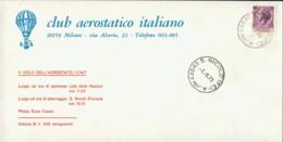 1973-aerogramma I Volo Dell'aerostato I-CAIT Da Lido Delle Nazioni A S.Nicolo' Ferrara - 6. 1946-.. Republic