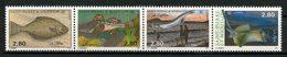 SPM MIQUELON 1993 N° 580/583 ** Neufs MNH Superbes C 6.40 € Faune Poissons Fishes Animaux Crapaud Raie Flétan - Neufs