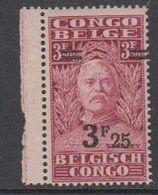 Belgisch Congo 1931 Stanley Ovptd 3.25F Op 3.50F (+velrand) ** Mnh (42933C) - 1923-44: Ongebruikt