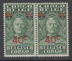 Belgisch Congo 1931 Henry Morton Stanley Opdruk 40c Op 35c (paar) ** Mnh (42933H) - Belgian Congo